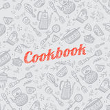 Cookbook cover with kitchen items Royalty Free Stock Photography