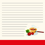 Cookbook creative cooking flat style. Vector illustration Stock Image