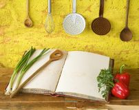Cookbook with free copy space, Royalty Free Stock Photo
