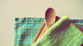 Cookbook Kitchen Accesories. Spoon and Illustrative Kitchen Stuff Royalty Free Stock Images