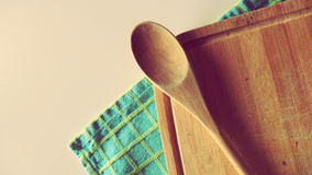 Cookbook Kitchen Accesories. Spoon and Illustrative Kitchen Stuff Stock Images