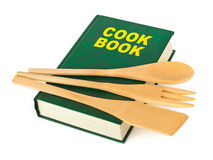 Cookbook and kitchenware Royalty Free Stock Photos