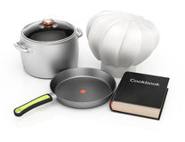 Cookbook and kitchenware Stock Photos