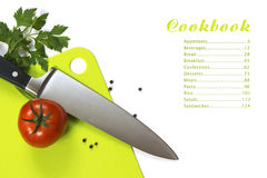 Cookbook menu Royalty Free Stock Image