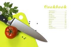 Cookbook menu Royalty Free Stock Image