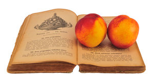 Cookbook with nectarine Royalty Free Stock Photo