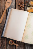 Cookbook on the table Royalty Free Stock Photography