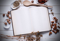 Cookbook on the table Stock Photography