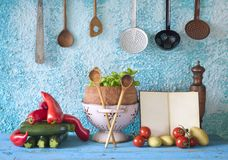Cookbook, vegetables,cooking concept Royalty Free Stock Image