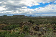 Cooke ` s峰顶沙漠视图 免版税库存照片