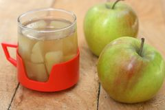 Cooked apples drink Royalty Free Stock Photo