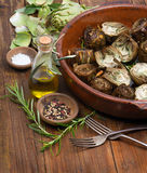 Cooked artichokes Stock Photography