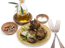 Cooked artichokes Royalty Free Stock Images