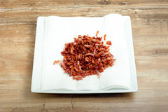 Cooked bacon bits Stock Image