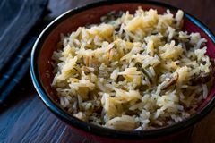 Cooked Basmati Rice in Bowl Ready to Eat. Traditional Food Royalty Free Stock Photography