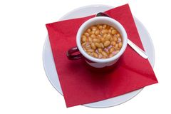Cooked beans served. As a side dish royalty free stock photography