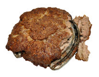 Cooked Beef Patty Contaminated With Horse Meat Royalty Free Stock Photography
