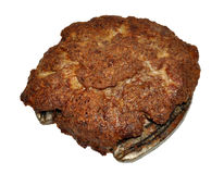 Cooked Beef Patty Contaminated With Horse Meat Stock Images