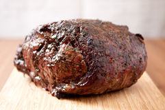 Cooked beef rib roast Stock Images