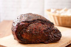 Cooked beef rib roast Royalty Free Stock Photo