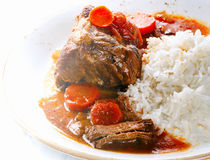 Cooked Beef with rice Royalty Free Stock Images