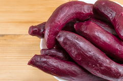 Cooked beetroot on a plate Royalty Free Stock Photos