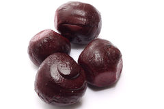 Cooked beetroot on white stock image