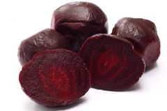 Cooked beetroot on white Royalty Free Stock Image