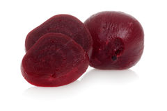 Cooked beets focus on slice Stock Photos
