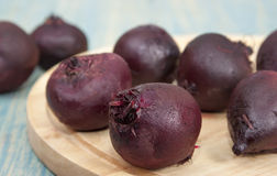 Cooked beets. On the table and cutting board Stock Photo