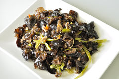 Cooked black fungus Royalty Free Stock Image