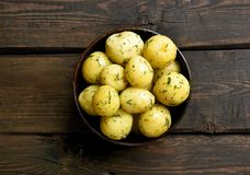 Boiled potatoes with dill Royalty Free Stock Photos