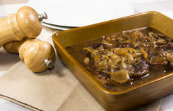 Cooked braing steak Stock Photography