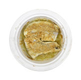Cooked breaded haddock Stock Image