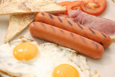 Cooked breakfast Stock Photography