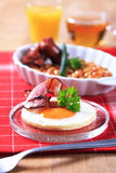 Cooked breakfast or brunch Stock Photo