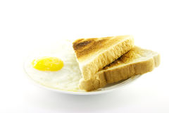 Cooked Breakfast Items on a Plate Stock Images