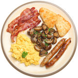 Cooked Breakfast with Scrambled Egg Stock Image