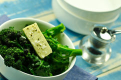 Cooked broccoli florets withy butter Stock Images