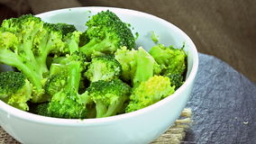 Cooked Broccoli (loopable) stock footage
