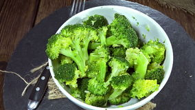 Cooked Broccoli (loopable) stock video