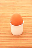 Cooked brown egg Royalty Free Stock Photo