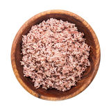 Cooked Brown Rice on white background and  made work path to cli Stock Photo