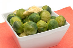 Cooked Brussel Sprouts Stock Photo