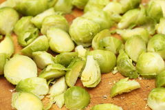Cooked Brussels Sprouts Stock Image