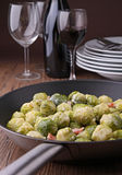 Cooked brussels sprouts Royalty Free Stock Images