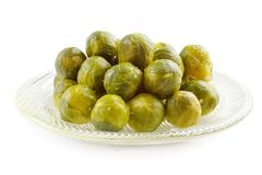 Cooked brussels sprouts Royalty Free Stock Photos