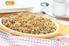 Cooked buckwheat Stock Images
