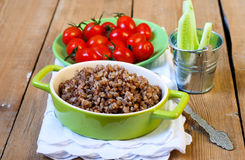 Cooked buckwheat Stock Photo