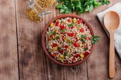 Cooked bulgur Royalty Free Stock Photography